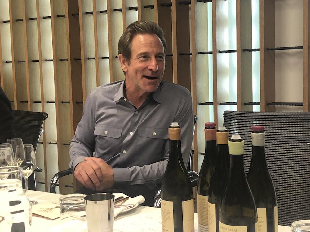 Liquid Fram's Jeff Nelson holds court at Toronto's Wine Academy.