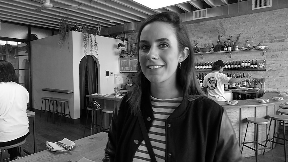 Sommelier Danielle Nicholls at Toronto's Paris Paris Wine Bar.