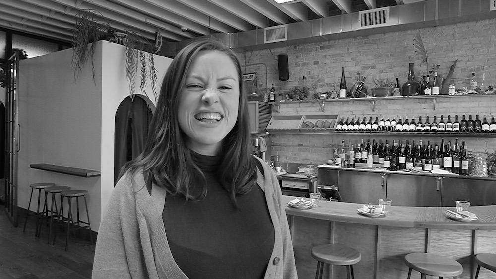Sommelier Michelle Ratzlaff enjoys some biere from Chablis at Toronto's Paris Paris.