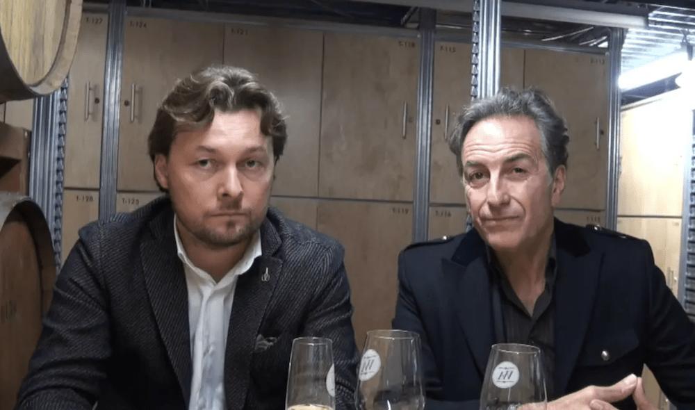 Winemaker William Savian and Broker Alessandro Dialuce at Toronto's Wine Academy.