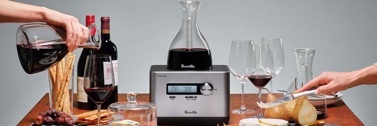 The Breville Sommelier real does speed up the decanting process, but be careful which wines you pour into it.