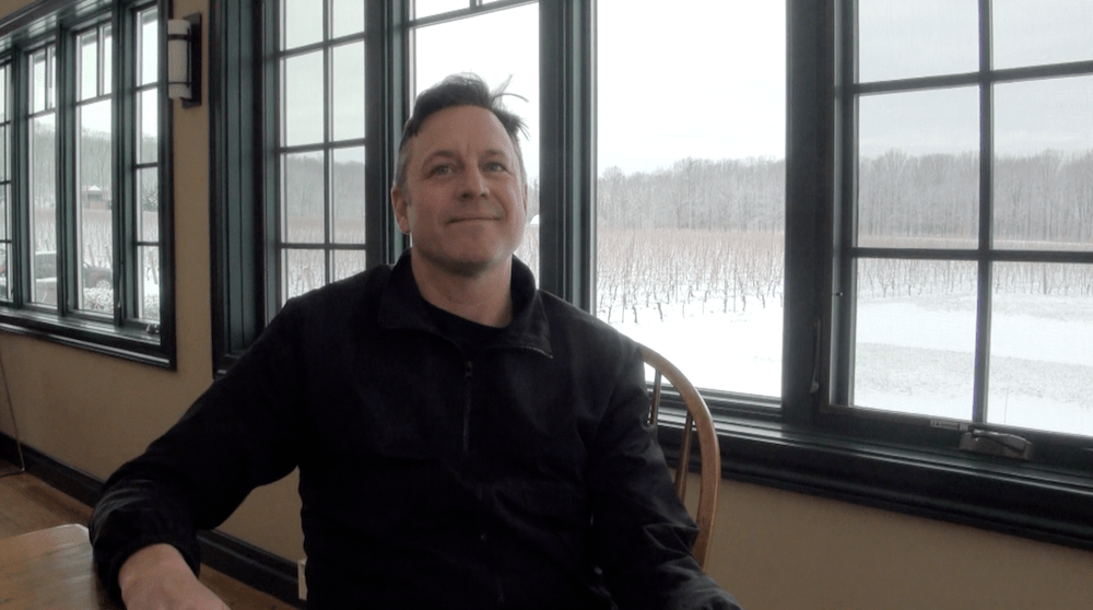 Although the vineyards are dormant, Winemaker Jay Johnston is anything but at Beamsville Bench's Hidden Bench Estate Winery.