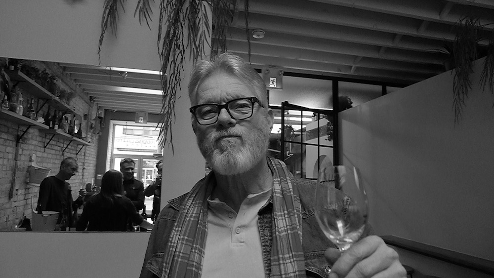 Old Bastard Sommelier Peter Boyd having fun at Toronto's Paris Paris.