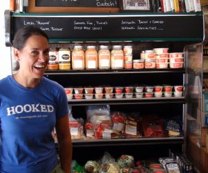 Fishmonger Kristin Donovan gives us a tour of Hooked's great ready-to-eat selections.