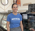 Hooked's Kristin Donovan welcomes us to her new store on Ripley Avenue.