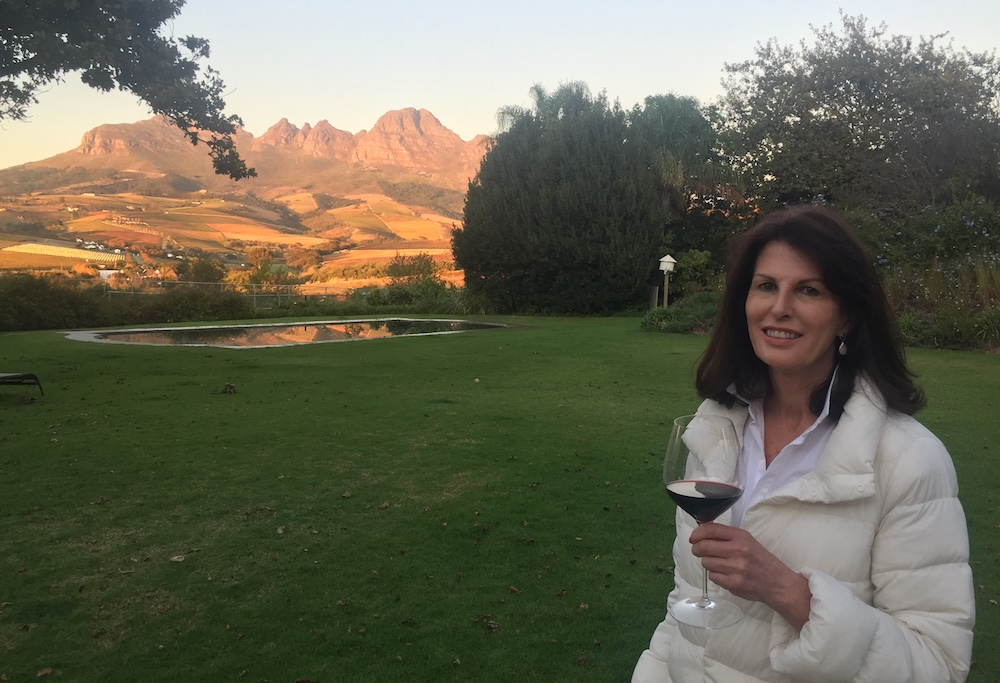South African Vigneron Susan McNaughton is currently under strict lockdown at her beautiful Stellenbosch property, South Africa.