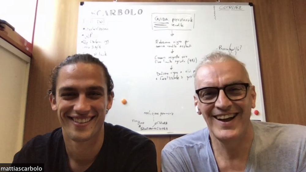 Mattia Scarbolo and his Father, Valter chatting with GFR live from Friuli, Italy.