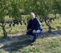 Catching up with the venerable Charles Baker, pictured here in the vineyards at Stratus today.