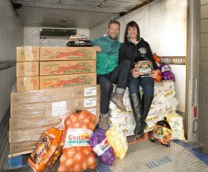 Paul & Grace in 100km Food Truck.