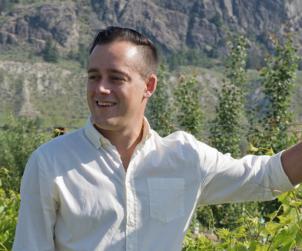 Winemaker Galen Barnhardt from Monte Creek in B.C.'s nascent Kamloops region.