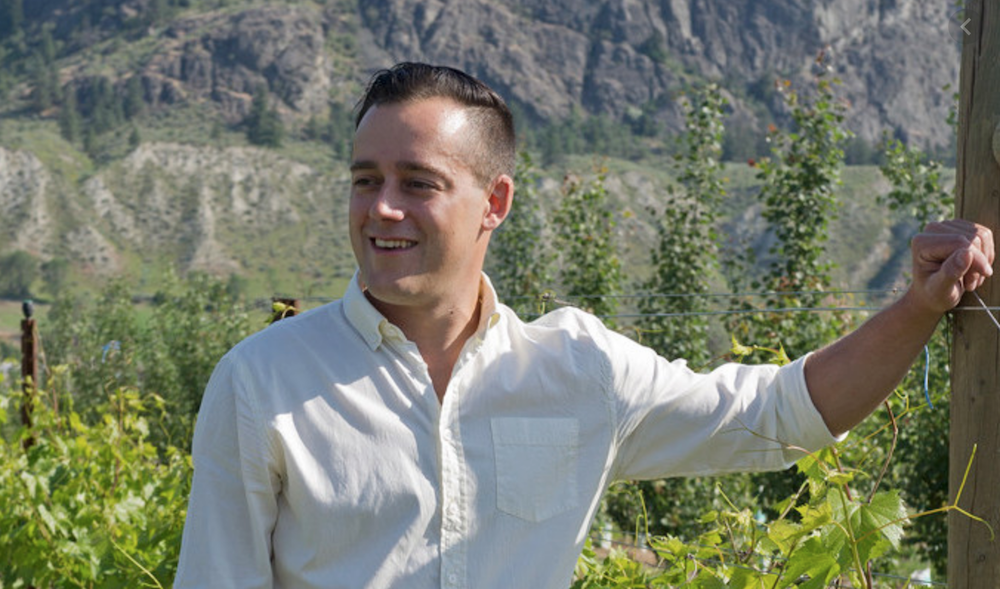 Winemaker Galen Barnhardt from Monte Creek in B.C.'s nascent Kamloops region.