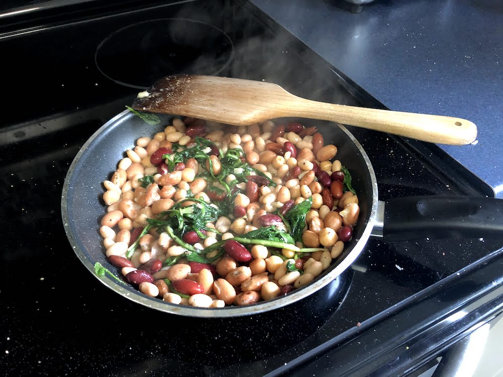 A favourite in our home is to saute them with butter and garlic before mixing them into warmed beans, like kidney beans and chick peas.